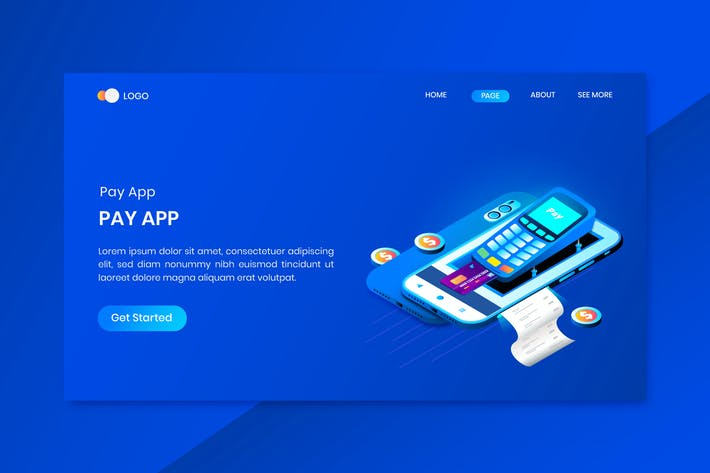 Thumbnail for Payment System App Isometric Concept Landing Page