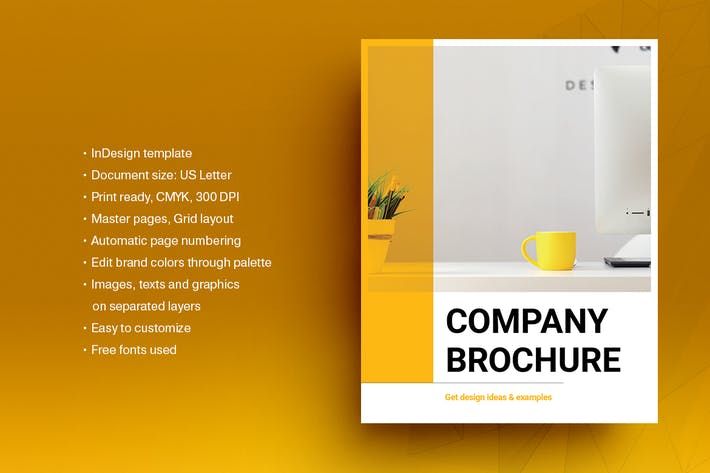 Thumbnail for Yellow Business Brochure Template