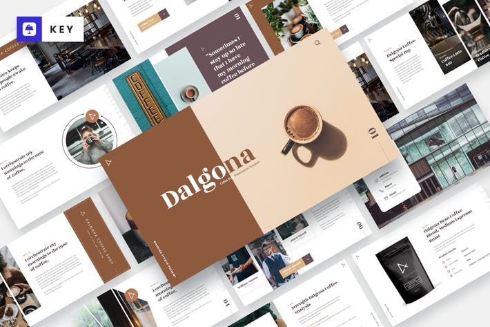 Thumbnail for DALGONA - Шаблон Keynote кофейни и кафе