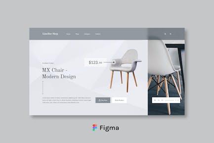 Limeline Shop - Möbelgeschäft Header Design Figma