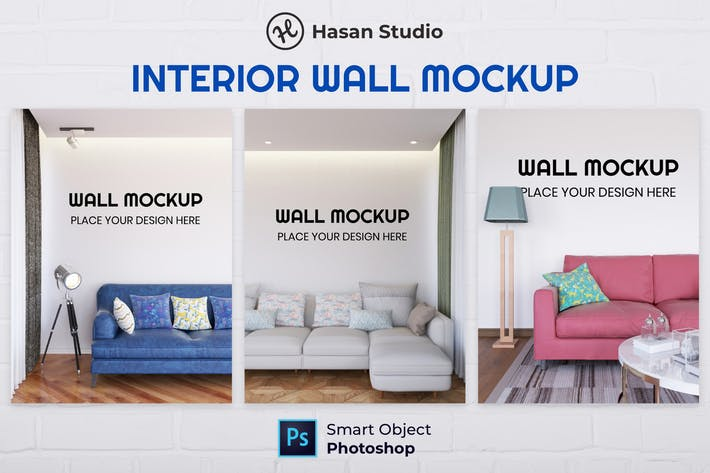 Thumbnail for Nuzie - Living Room Wall Mockup