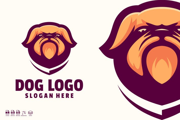Thumbnail for Dog logo template