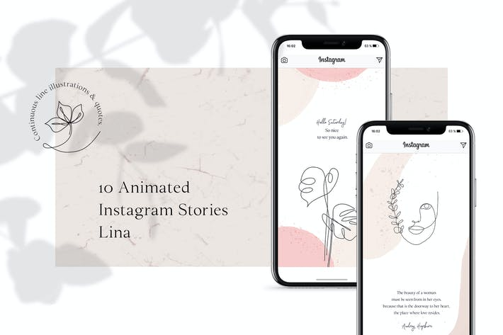 ANIMATED Instagram Stories – Lina by AgataCreate on Envato