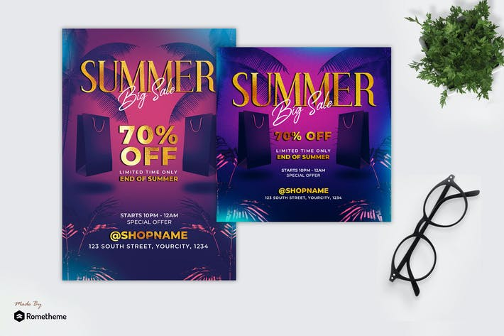 Thumbnail for Summer Sale - Promotion Flyer MR