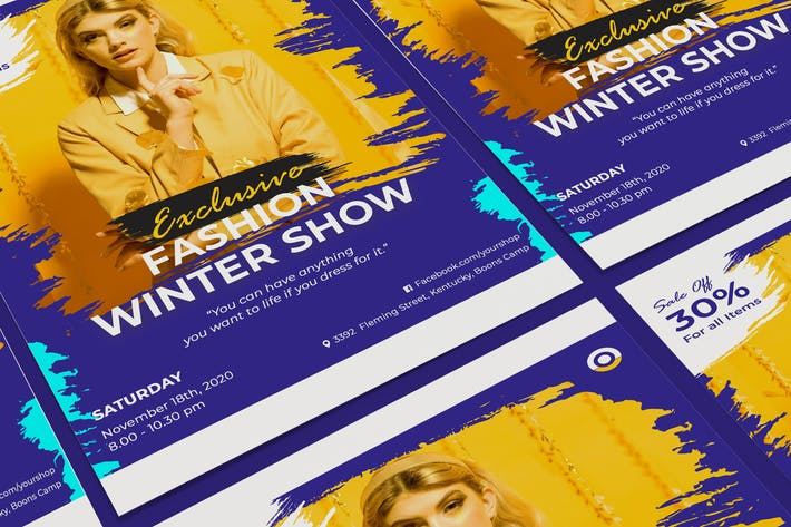 Thumbnail for Творческий Мода Продажа Плакат PSD Шаблон