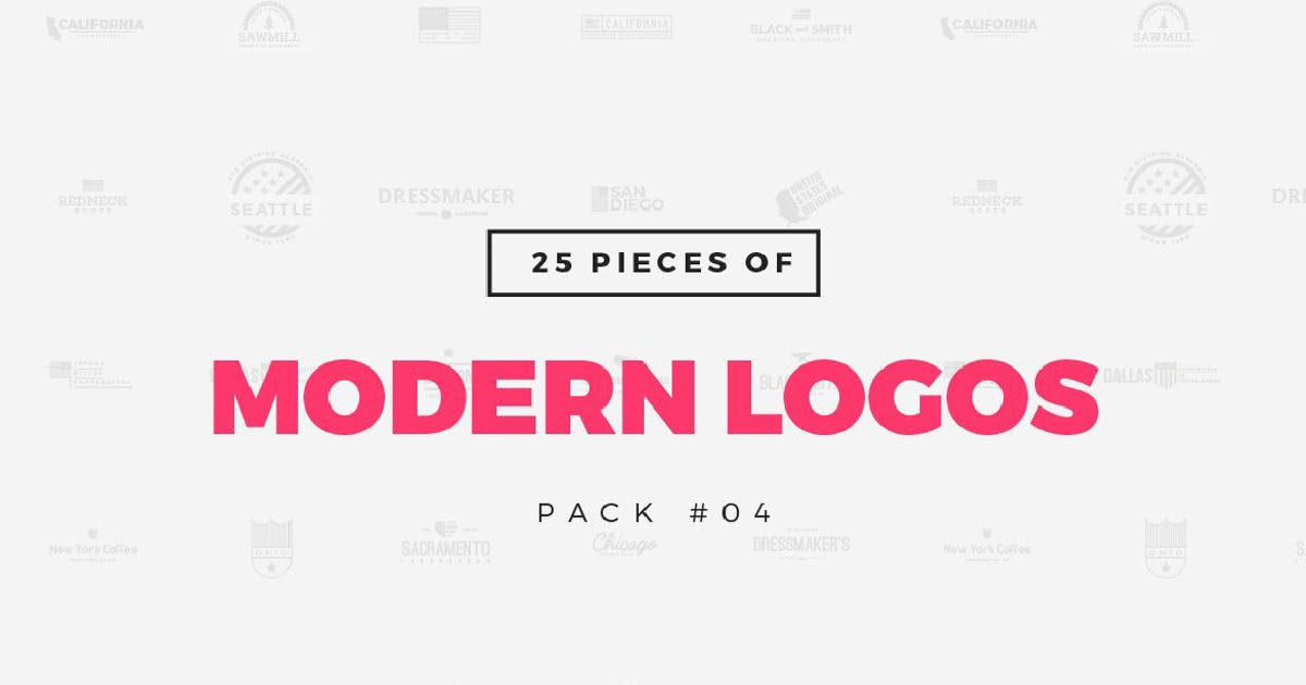 Download [Pack 04] 25 Modern Logo Templates by MPFphotography
