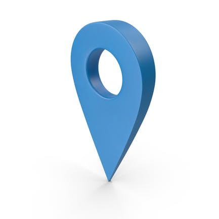 Синий указатель карты