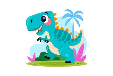 Cartoon Baby T-Rex