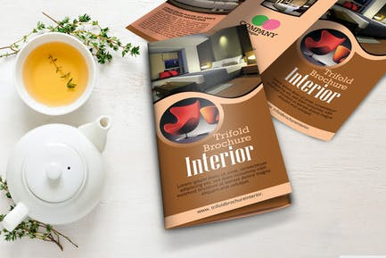 Interior Tri Fold Brochuree Template Vol 1