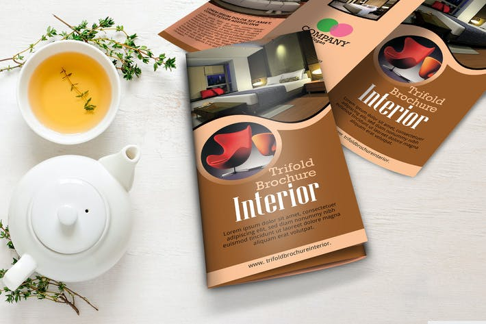 Thumbnail for Interior Tri Fold Brochuree Template Vol 1