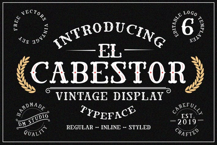 Thumbnail for El Cabestor - Vintage Display Typeface & EXTRA