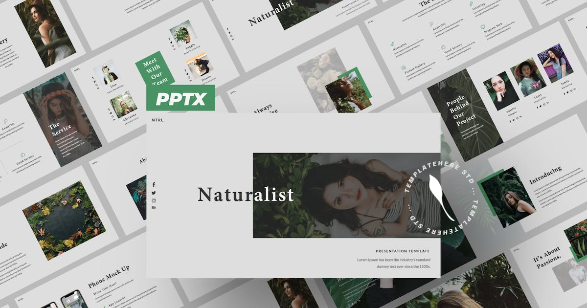 Download Naturalist Creative Powerpoint by templatehere