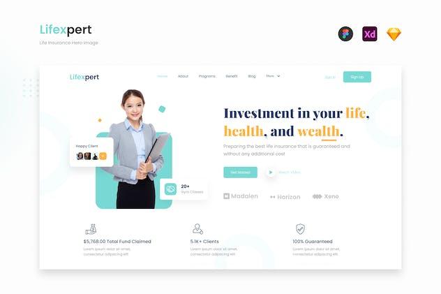 Lifexpert - Modern Life Insurance Website Landing