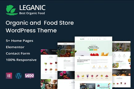 Leganic - Orgánica y Alimentos Tienda WordPress Tema