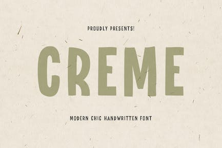 CREME - Modern Chic Hand-lettered font
