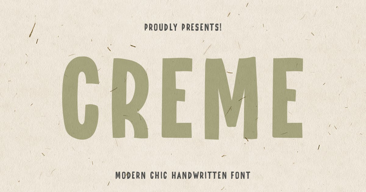 Download CREME - Modern Chic Hand-lettered font by HamzStudio