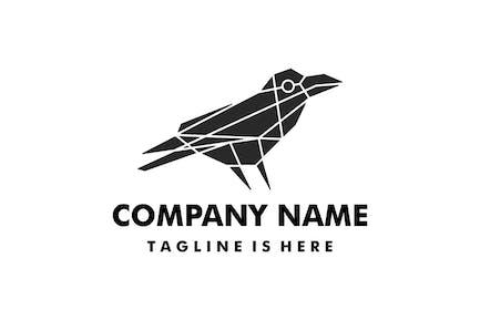 Raven Crow Geometric Polygonal Logo