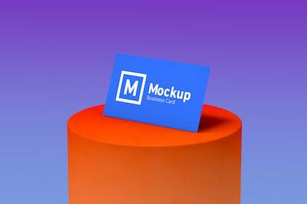 Single Side Business Card Mockup
