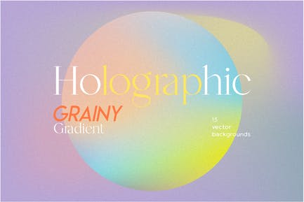 Holographic grainy backgrounds