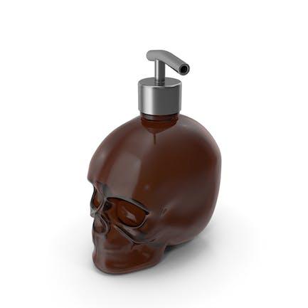 Dark Medical - Botella de cristal con dispensador de plata