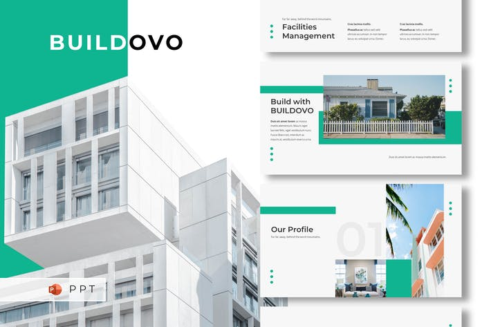 Thumbnail for BUILDOVO - Real Estate Powerpoint Template