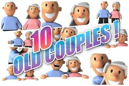 10 alte Paare!