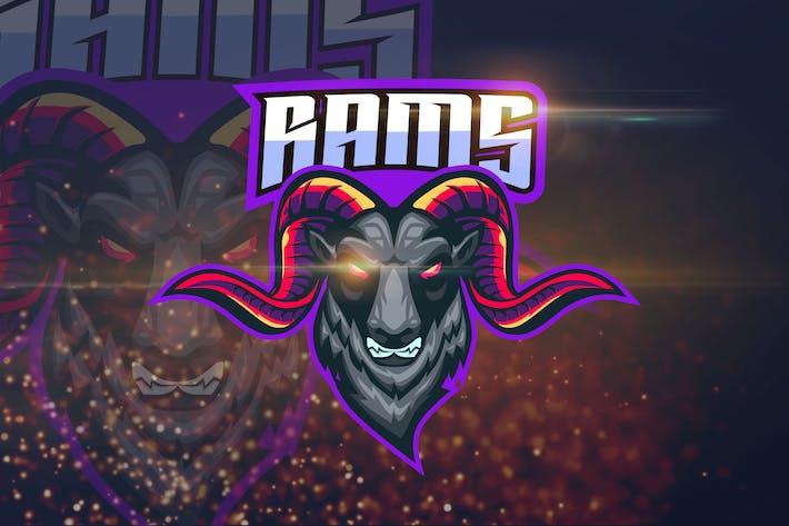 Thumbnail for Rams - Angry Animal eSport Logo Template