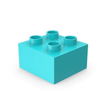 2x2 Blaue Ziegelspielzeug