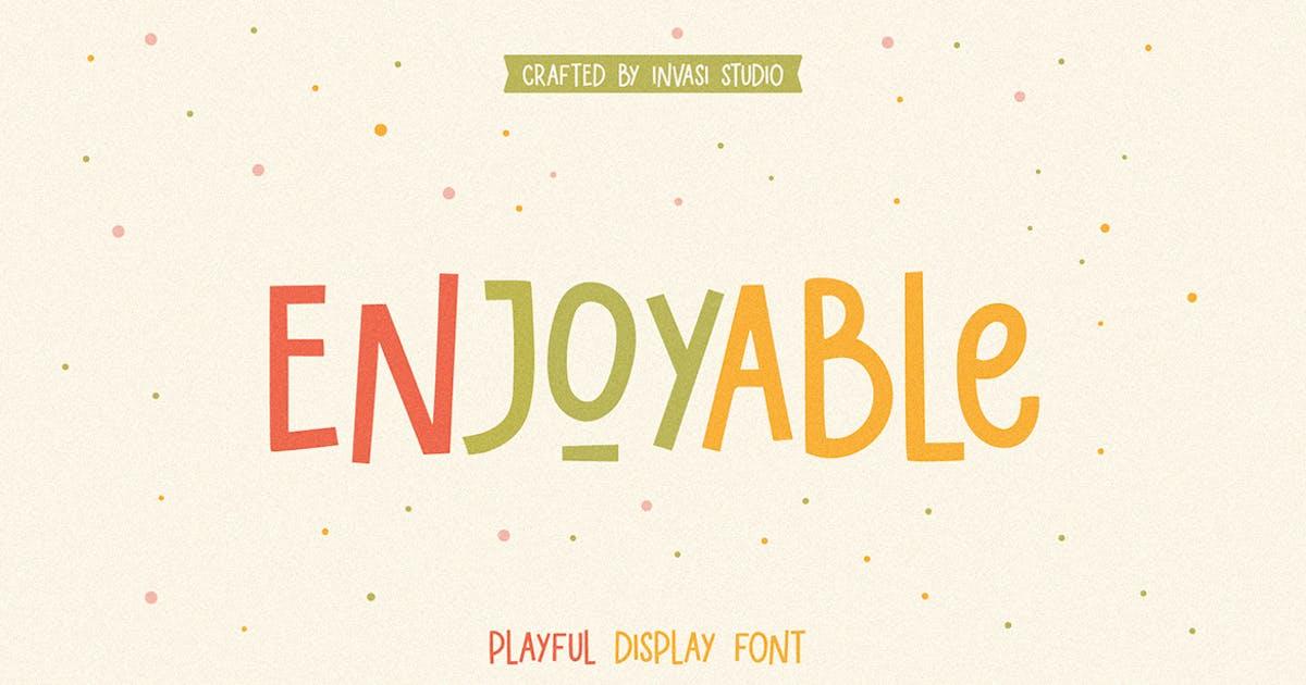 Download Enjoyable   Playful Font by InvasiStudio