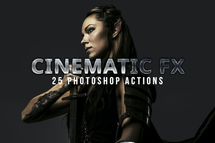 Thumbnail for Cinematic Photoshop Actions