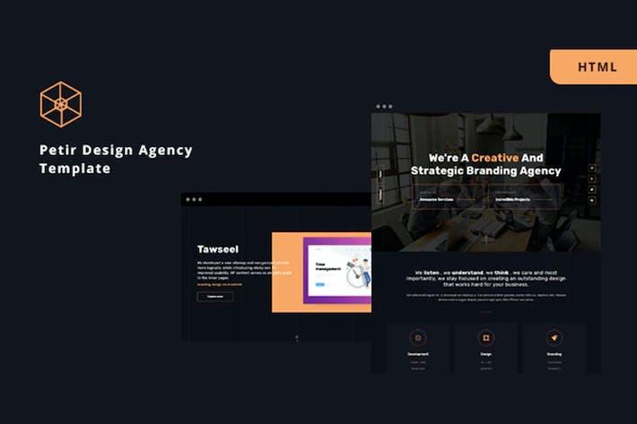 Thumbnail for Petir - Design Agency HTML Template