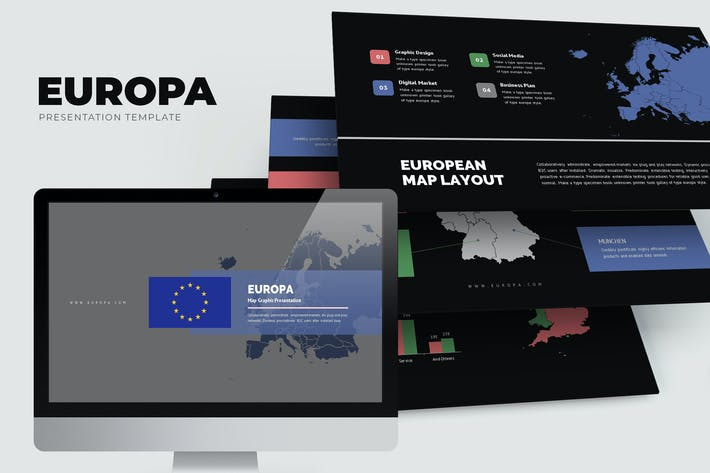 Thumbnail for Europa : Europe Region Vector Map Keynote
