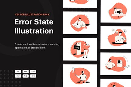 Error State Illustrations Pack