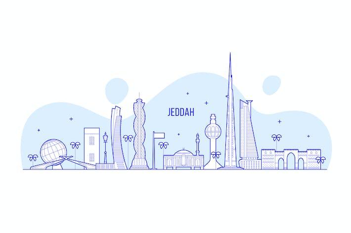 Thumbnail for Skyline von Dschidda, Saudi-Arabien