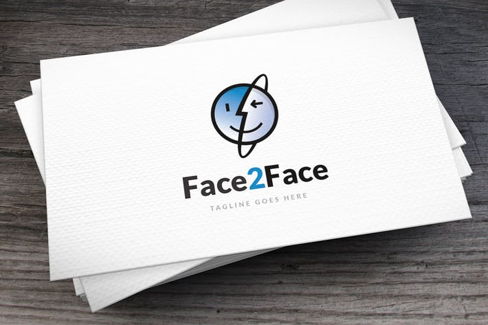 Thumbnail for Face 2 Face Logo Template