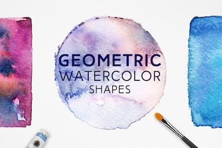Geometric Watercolor Shapes