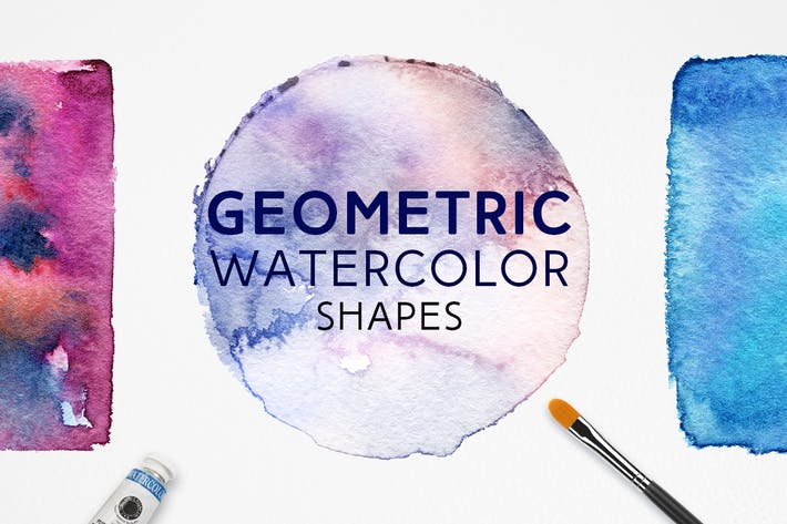 Thumbnail for Geometric Watercolor Shapes