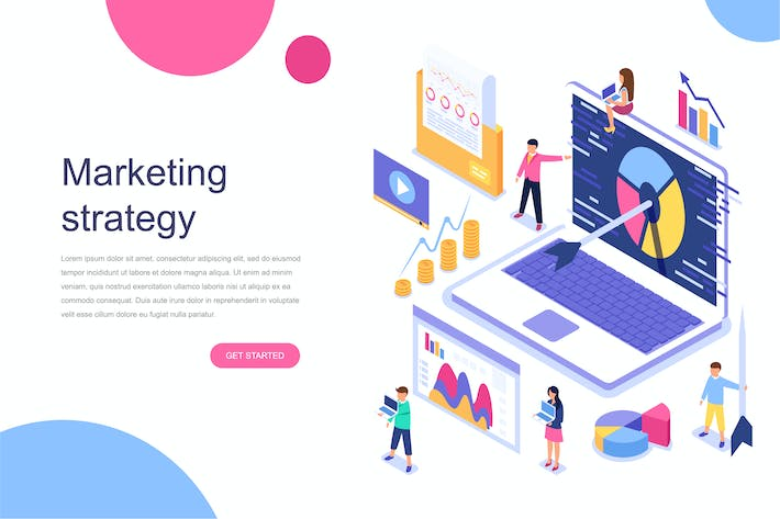 Cover Image For Digital Marketing Isometric Concept