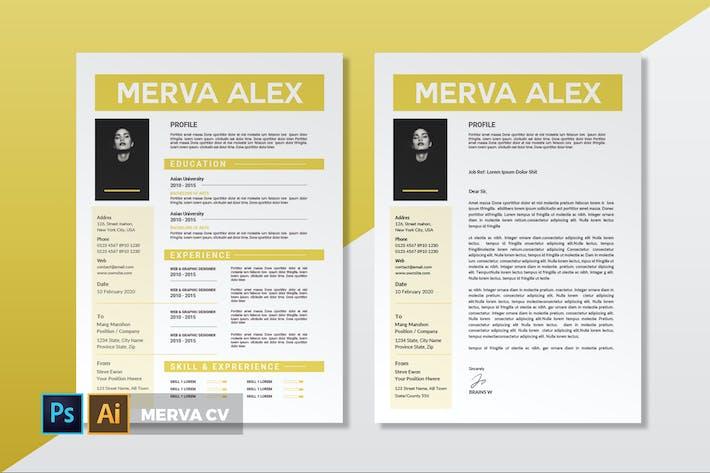 Thumbnail for Merva | CV & Resume