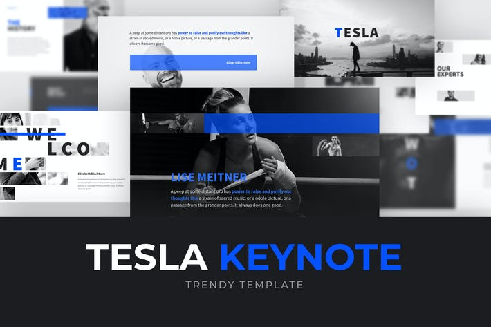 Thumbnail for TESLA Keynote Template