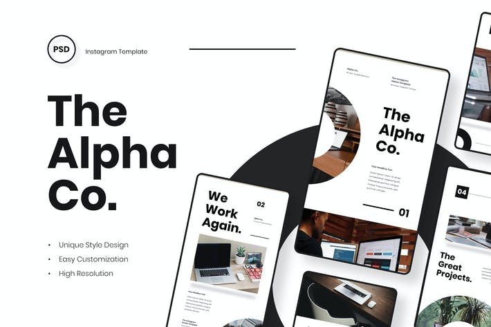 Thumbnail for Alpha - Business Instagram Stories Template