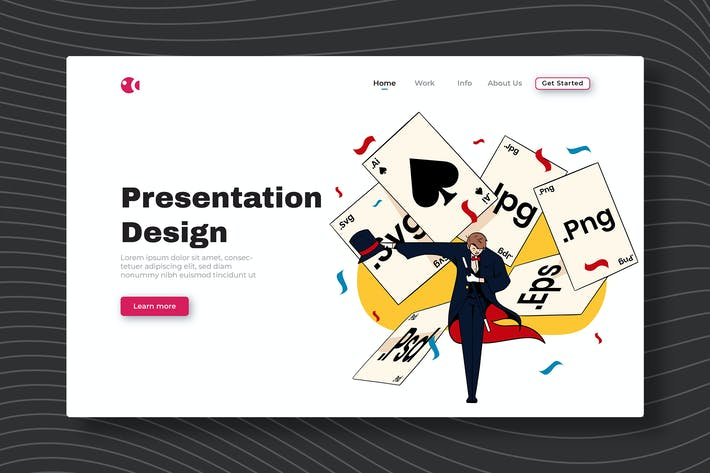 Дизайн презентации - Landing Page