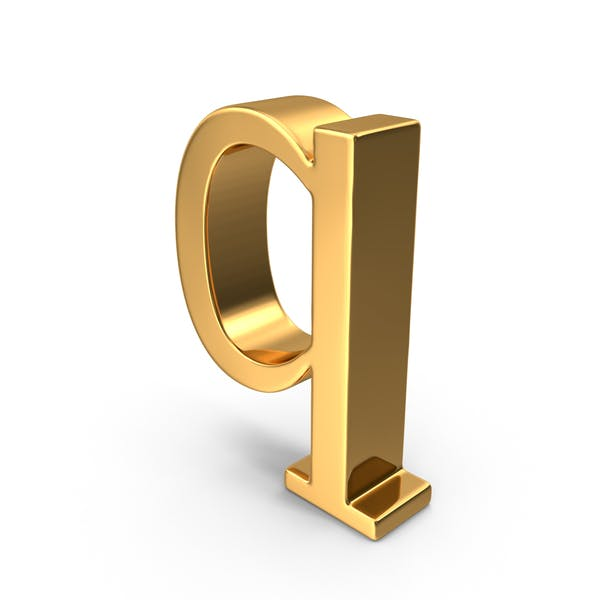 Thumbnail for Gold Small Letter Q