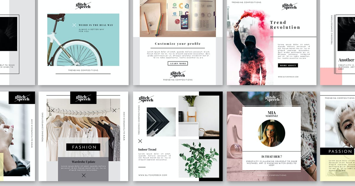 Download Social Media Design Kit by EightonesixStudios