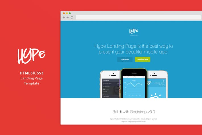 Thumbnail for Hype - App Landing Page