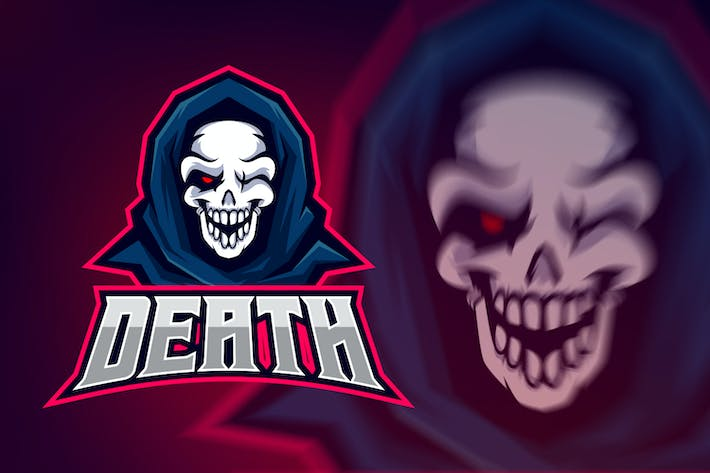 Evil Hooded Skull Esport Logo