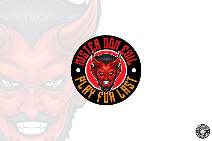 Thumbnail for Red Devil Head Logo Mascot