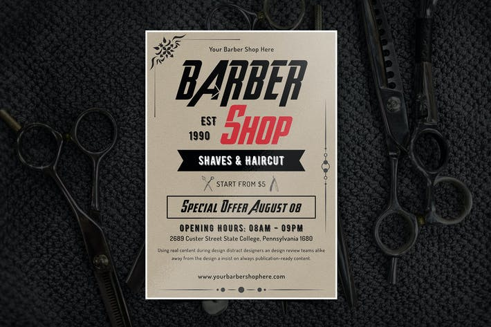 Thumbnail for Barber Shop Flyer-11