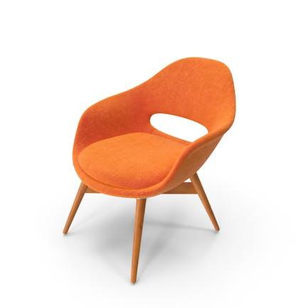 Orange Wildleder Stuhl
