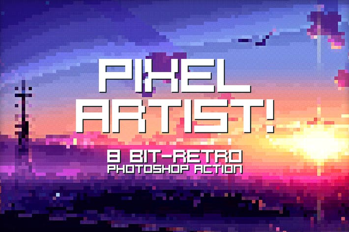 Thumbnail for Pixel Artist - Photoshop Action